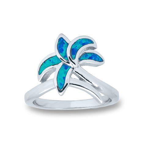 palm tree blue opal ring landing company