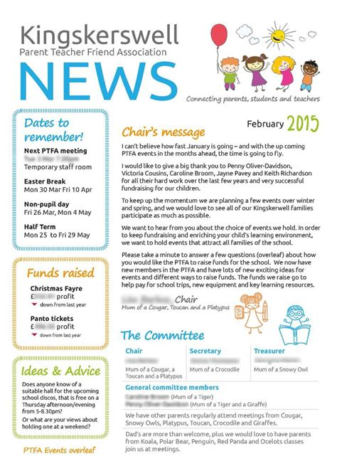 pto newsletter templates free 82 best images about newsletters on
