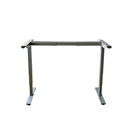 height adjustable desk frame only canary grey electric height adjustable desk frame abc592gr
