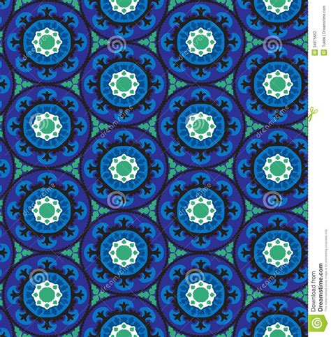 pattern in blue color suzani pattern stock photography image 34875602