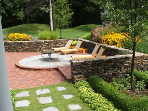 stone backyard patio brick patio outdoor kitchen ideas home citizen