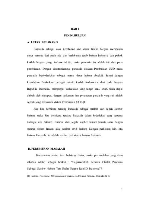Hukum Persaingan Usaha Di Indonesia 1 peranan filsafat pancasila sebagai sumber hukum tata usaha negara ide
