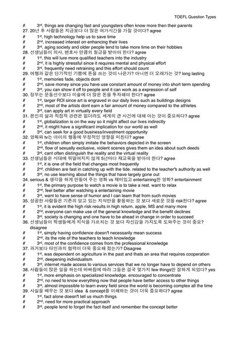 toefl speaking template toefl ibt writing 30점 만점을 향한 템플릿 후기자료 tip 유용한 문구 브레인