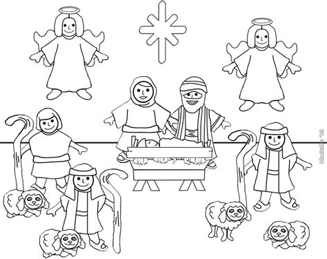 Letter Size Nativity Color Page For Personal Use Only Flickr Nativity Letter Template