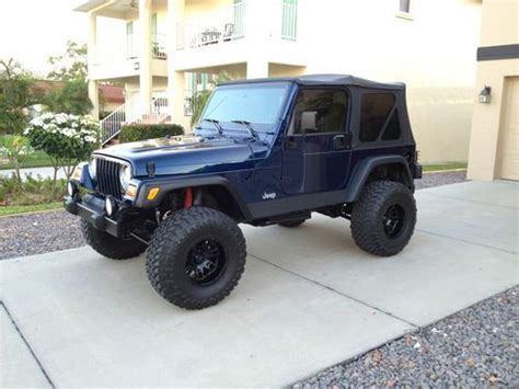 2002 Jeep Wrangler Mpg Buy Used 2002 Jeep Wrangler Sport 4 0 Lifted Clean