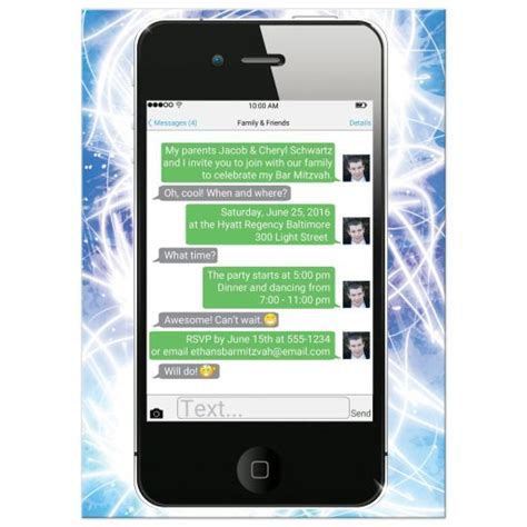 themes for iphone text messages bar mitzvah invitation smart phone text messages
