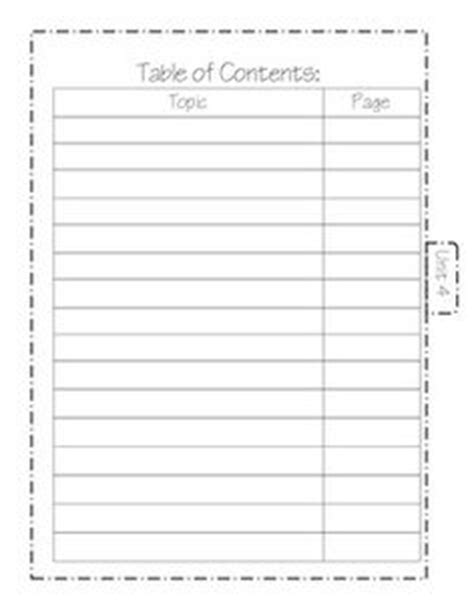1000 ideas about table of contents template on