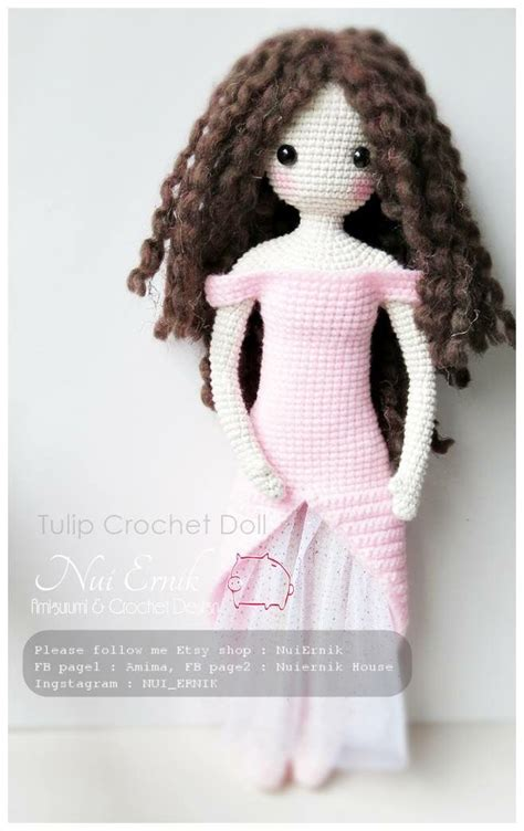pattern for yarn doll crochet doll amigurumi hair with deconstructed yarn look