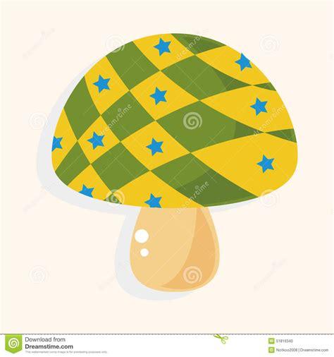cartoon themes vector mushroom cartoon theme elements vector eps stock vector