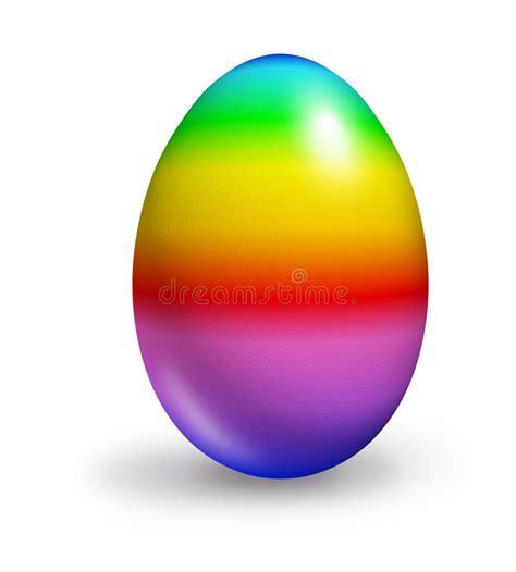 colored eggs rainbow colored egg stock illustration illustration of