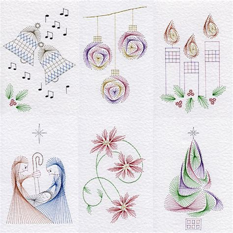 card stitch templated patterns added at stitching cards and
