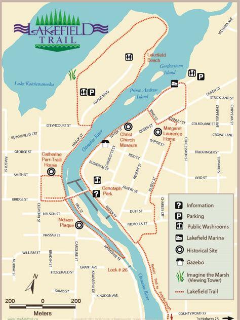 Bench Signs Lakefield Trail Map Selwyn