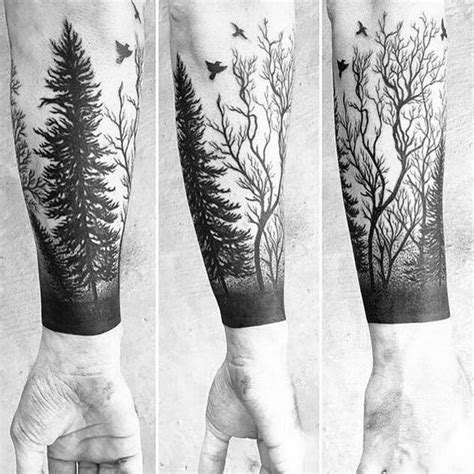 forest sleeve tattoos 20 forest tattoos on sleeve