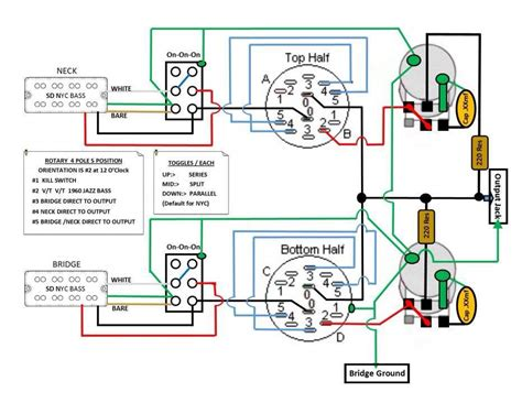 my wiring scheme for esp passive bass project any advise