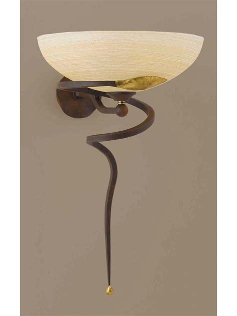 applique oro applique classico in ferro battuto ruggine oro 1 luce ap