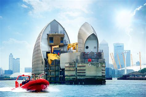 thames barrier information centre cafe thames barrier rocket speed boat voyage for two