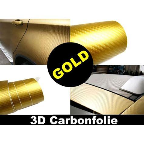 Folie Gold Meterware by 3d Carbon Folie Gold 152cm Flexibel Selbstklebend
