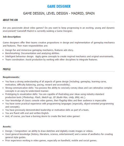 Game Design Entry Level Jobs | cover letter 3d modeler