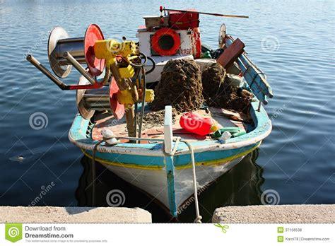 buy fishing boat in greece fishing boat on lesvos island greece europe stock