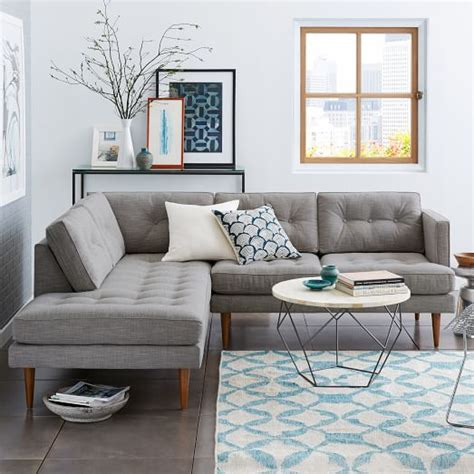 west elm sectional peggy mid century terminal chaise sectional west elm