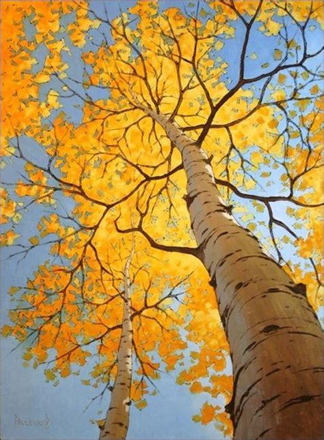 birch tree in the fall pattern pinterest