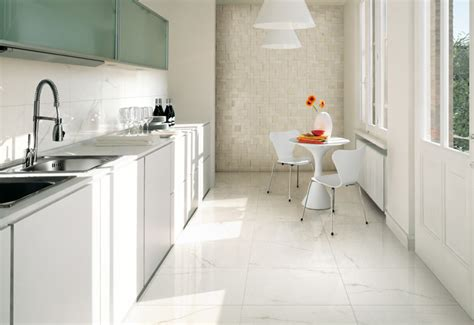 white tile floor kitchen top to toe ceramic tiles