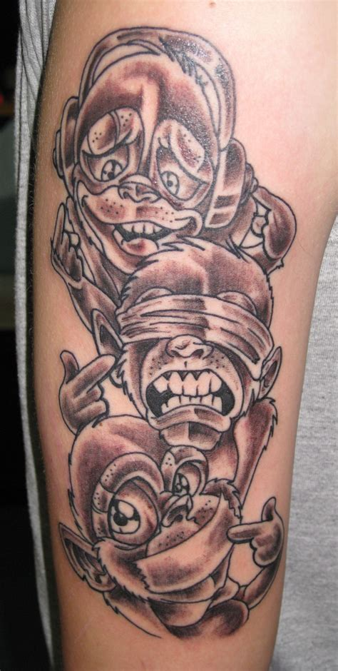 3 wise monkeys tattoo designs 3 three wise monkeys see no hear speak evil