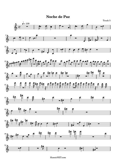 printable lyrics to noche de paz noche de paz sheet music noche de paz score hamienet com