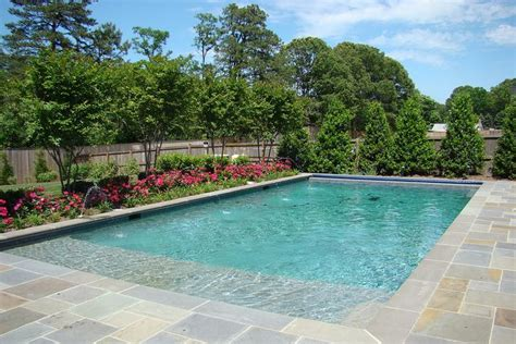tanning backyard swimming pool with tanning ledge pool and backyard ideas