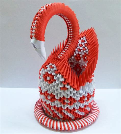 3d origami swan by designermetin wallpaper