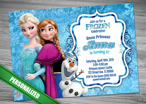 disney frozen birthday invitations printable frozen invitation disney frozen invitation printable