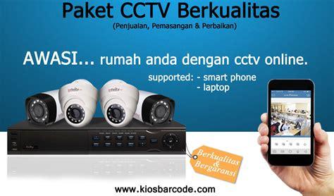Paket Cctv Lengkap 4 Channel Cal 5180pemasangangaransi paket cctv infinity 4 channel kios barcode