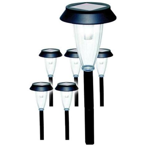 Solar Patio Lights Home Depot Solar Garden Lights 6 Pack Discontinued 86116 The Home Depot