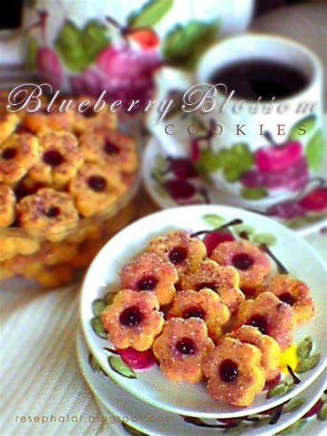 Lu Belajar Frozen blueberry blossom cookies resep halal