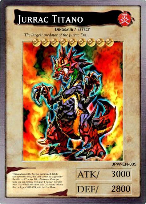 dueling card templates bandai style jurrac titano by chdmann on deviantart