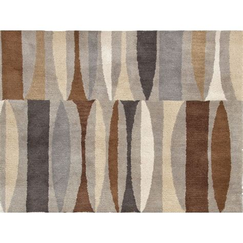Brown And Gray Area Rug Jaipur Rug1041 Traverse Tufted Geometric Pattern Wool Gray Brown Area Rug