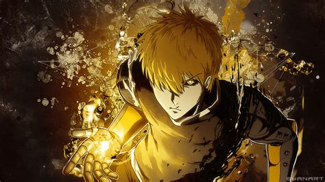 punch man genos fullhd wallpaper  thesyanart