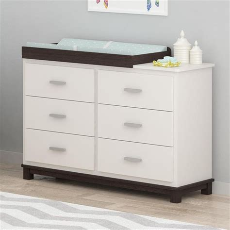 white dresser with changing table 6 drawer dresser with changing table in white 5925216com
