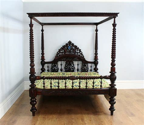 antique four poster bed 5ft 7 colonial raj victorian four poster bed circa 1860 1880 278751