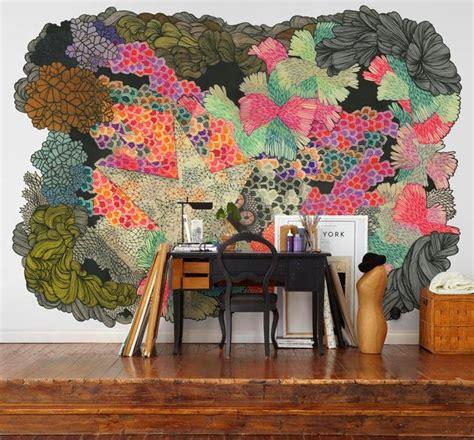 design bunga unik ide unik dekorasi wallpaper dinding artistik rancangan