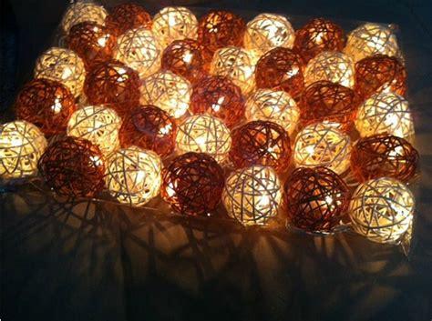rattan string lights decor rattan balls string lights led garden