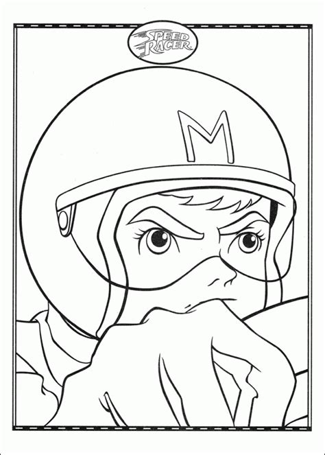 speed racer coloring pages coloringpagesabc com