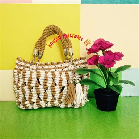 about macrame cara merajut motif pagar macrame bag 61 best images about macram 233 abbigliamento e accessori on