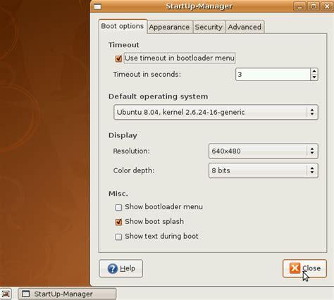 ubuntu dan ubuntu boot menu