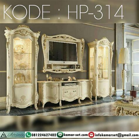 desain lemari tv klasik model meja tv lemari hias klasik mewah hp 314 harga pintu