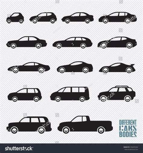 Car Types Icons by Cars Icons Set Different Car Types Stock Vector 336695264