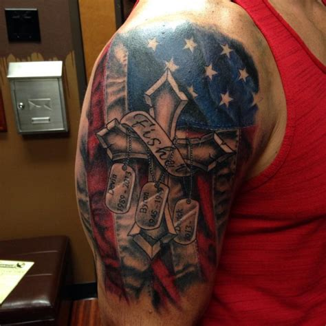 american quarter sleeve tattoo 30 us army flag tattoos