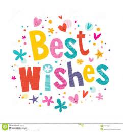 best wishes stock vector image 44167686