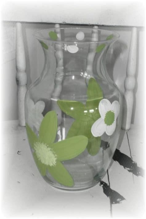 Green Flower Vase by Painted Lime Green Flower Glass Vase