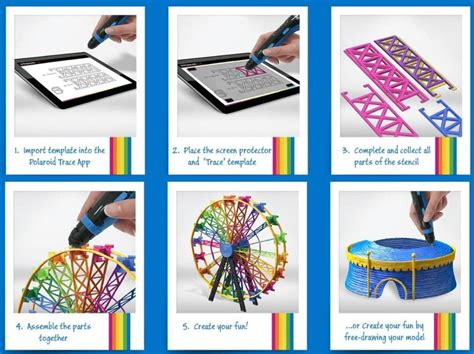 Polaroid Releases New 3d Pen And Materials Polaroid Template App
